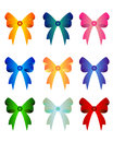 Set of colorful bows isolated on white Stock Images