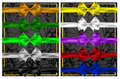 Set of colorful bows and ribbons for design the ten colors Royalty Free Stock Photos