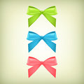 Set of colorful bows vector Stock Images
