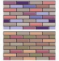 Set of  colorful brick wall textures collection background pattern Royalty Free Stock Photo