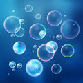 Set colorful bubbles in vector. Isolated  water bubbles collection Royalty Free Stock Photo