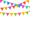 Set Colorful Buntings Flags Garlands Royalty Free Stock Photo