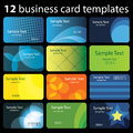 Set of Colorful Business Card Backgrounds Royalty Free Stock Photo