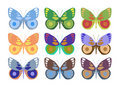 Set of colorful butterflies Stock Images