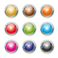 Set with colorful buttons illustration version Stock Photography