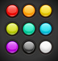 Set of colorful buttons vector Royalty Free Stock Photo
