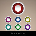 Set of colorful buttons vector illustration Royalty Free Stock Photo