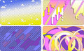 Set of colorful cards backgrounds Stock Image