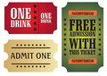 Set of colorful cinema tickets Stock Photography