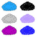 Set of  colorful clouds Royalty Free Stock Images