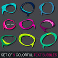 Set of colorful comic book text bubbles Royalty Free Stock Image