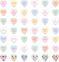 Set of Colorful Conversation Hearts, Vector