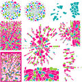 Set of colorful design elements of mosaic Royalty Free Stock Photos