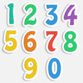 Set of colorful digits multicolored numbers Royalty Free Stock Photo