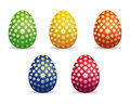 Set colorful Easter eggs icon isolated on white backgroun Royalty Free Stock Photo