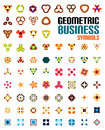 Set of colorful editable business symbols concepts geometric shapes decoration techno icons Stock Photography