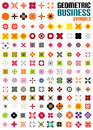 Set of colorful editable business symbols concepts geometric shapes decoration techno icons Royalty Free Stock Photos