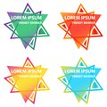 Set of colorful elements, gradient abstract shape for banner. Set of color, abstract, triangular banners for your design Royalty Free Stock Photo