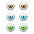 Set of colorful eyes. Brown, blue, green eye Royalty Free Stock Photo