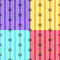 Set of colorful fabric designs Stock Images