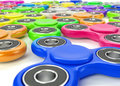 Set of colorful fidget spinners
