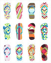 Set of colorful flip flops Royalty Free Stock Photo
