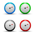 A set of colorful glossy colorful icons with the measurement speed Stock Photos