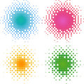 Set of colorful halftone dots, halftone. Royalty Free Stock Photo