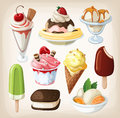 Set of colorful ice cream tasty Royalty Free Stock Photography