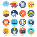 Set of colorful icons in modern flat design for Business