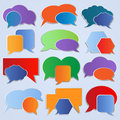 Set of colorful labels, speech bubbles Royalty Free Stock Images