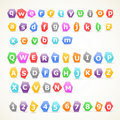 Set of colorful letters Stock Images