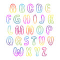 Set of colorful letters. Alphabet for your Design Royalty Free Stock Photo