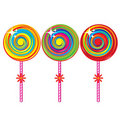 Set of colorful lollipops Royalty Free Stock Photos