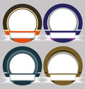 Set of colorful modern emblem frames in Stock Photos