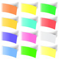 Set of Colorful Notes Royalty Free Stock Photo