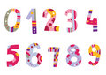 Set of Colorful Numbers Royalty Free Stock Photo