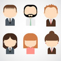 Set of colorful office people icons businessman businesswoman trendy flat style Royalty Free Stock Images
