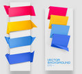 Set of colorful paper banners. Vector. Royalty Free Stock Photos
