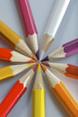 A set of colorful pencils 9 Stock Photography