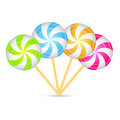 Set of colorful peppermint candies. Vector