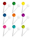 Set of Colorful Pins Stock Photos