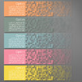 Set of Colorful Pixel Banners Royalty Free Stock Photo