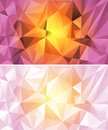 Set of colorful polygon background abstract with triangular shapes Stock Photos