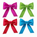 Set of colorful ribbon bows vector Royalty Free Stock Photo