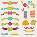Set of Colorful Ribbons Stock Photos