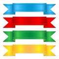 Set of colorful ribbons elements for decor Royalty Free Stock Photos