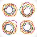 Set of colorful round abstract banners Royalty Free Stock Photo