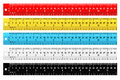 Set of colorful rulers Royalty Free Stock Photo