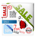 Set of colorful sale labels Royalty Free Stock Image